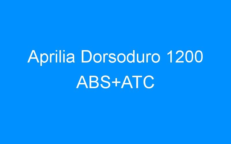 Aprilia Dorsoduro 1200 ABS+ATC