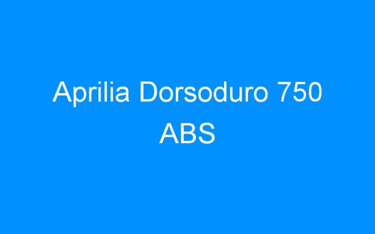 Aprilia Dorsoduro 750 ABS