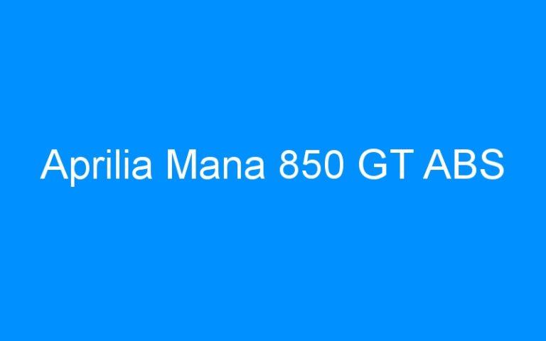 Aprilia Mana 850 GT ABS