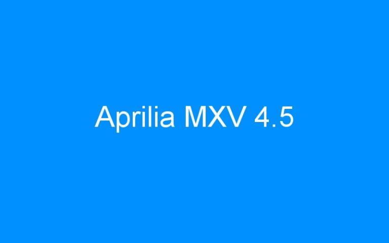 Aprilia MXV 4.5