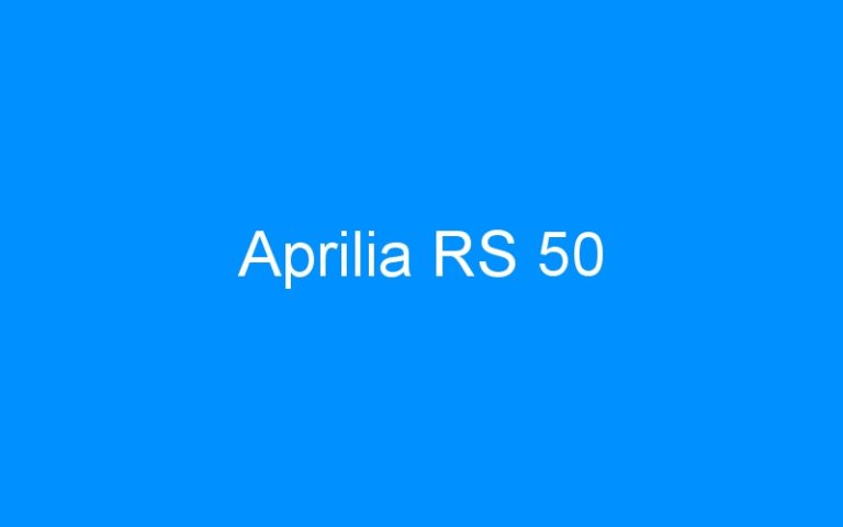 Aprilia RS 50