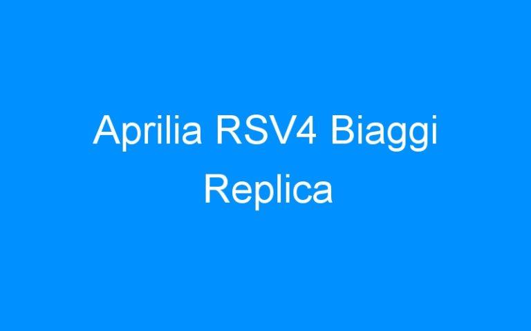 Aprilia RSV4 Biaggi Replica