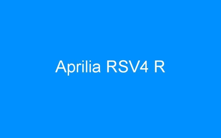 Aprilia RSV4 R