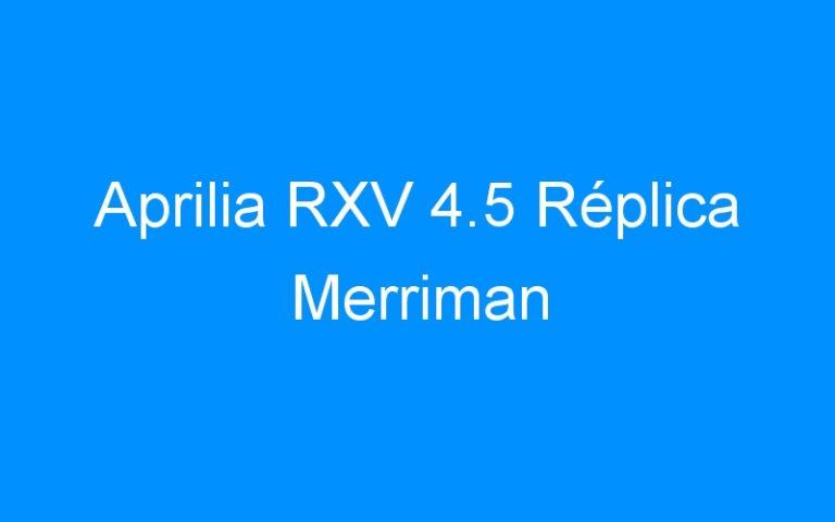 Aprilia RXV 4.5 Réplica Merriman