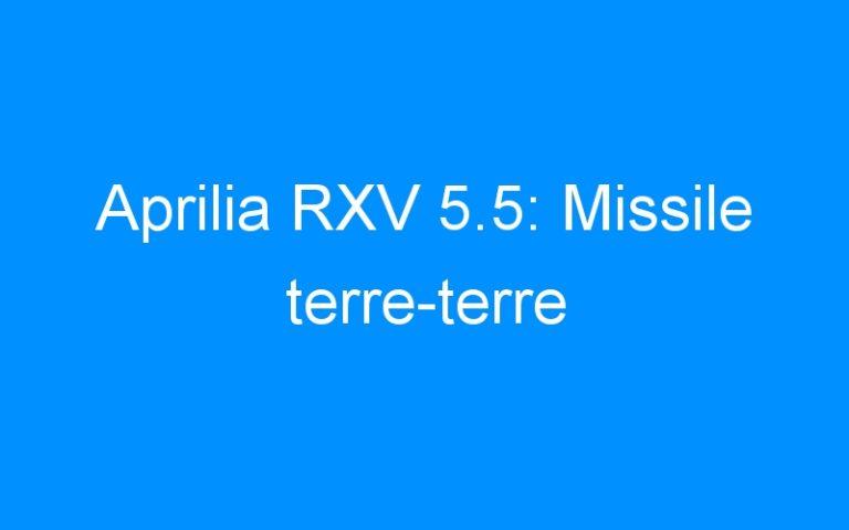 Aprilia RXV 5.5: Missile terre-terre