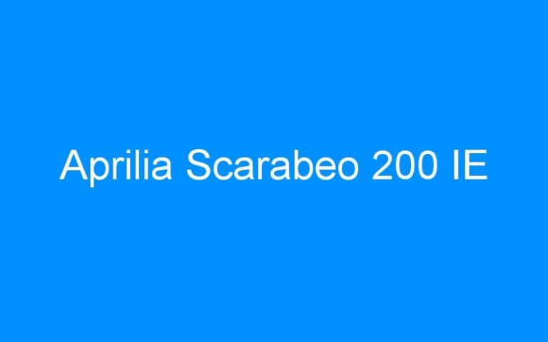 Aprilia Scarabeo 200 IE