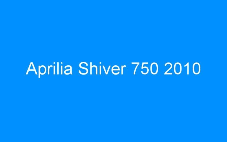 Aprilia Shiver 750 2010