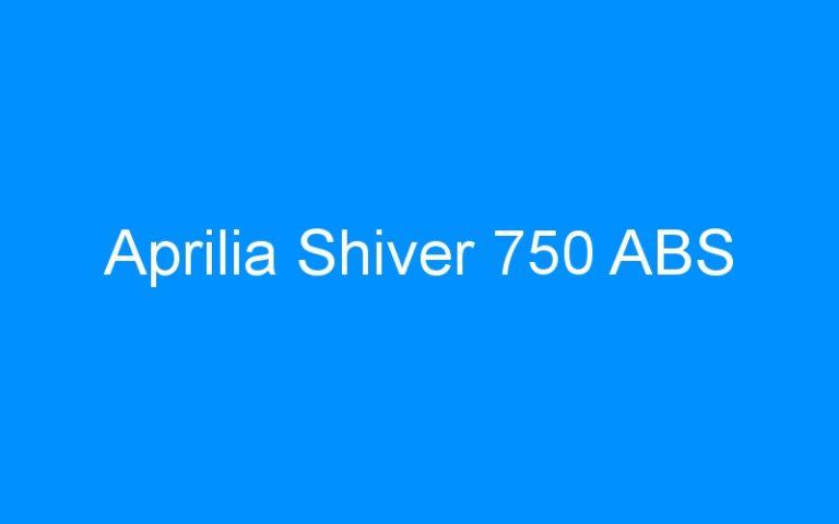 Aprilia Shiver 750 ABS