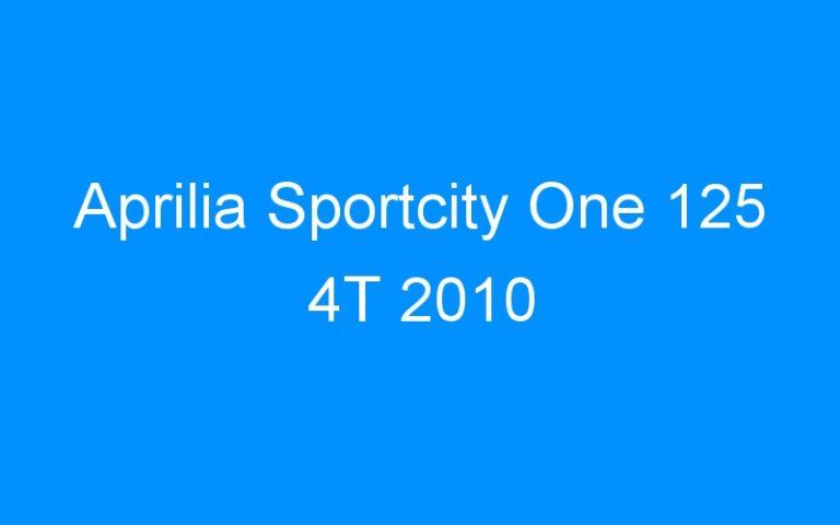 Aprilia Sportcity One 125 4T 2010