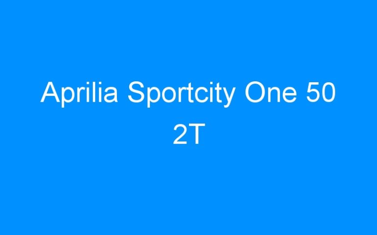 Aprilia Sportcity One 50 2T
