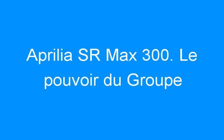 Aprilia SR Max 300. Le pouvoir du Groupe