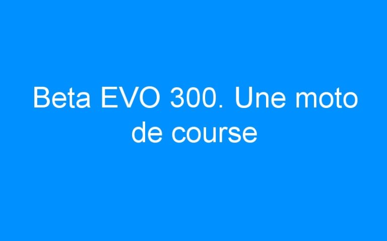 Beta EVO 300. Une moto de course