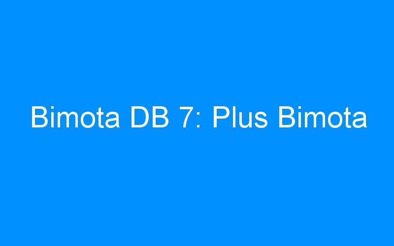Bimota DB 7: Plus Bimota