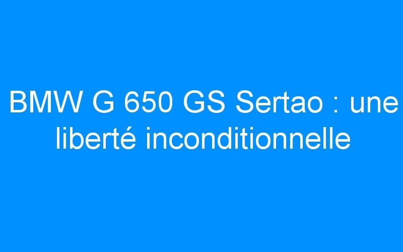 BMW G 650 GS Sertao : une liberté inconditionnelle