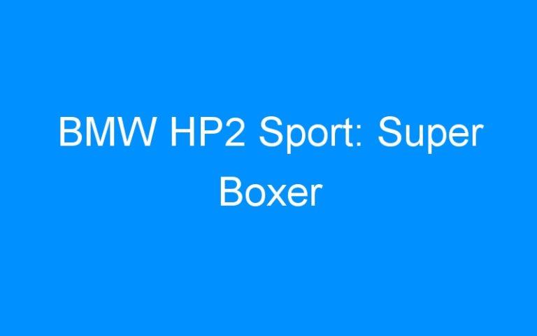 BMW HP2 Sport: Super Boxer