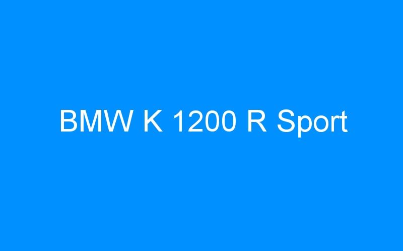 BMW K 1200 R Sport