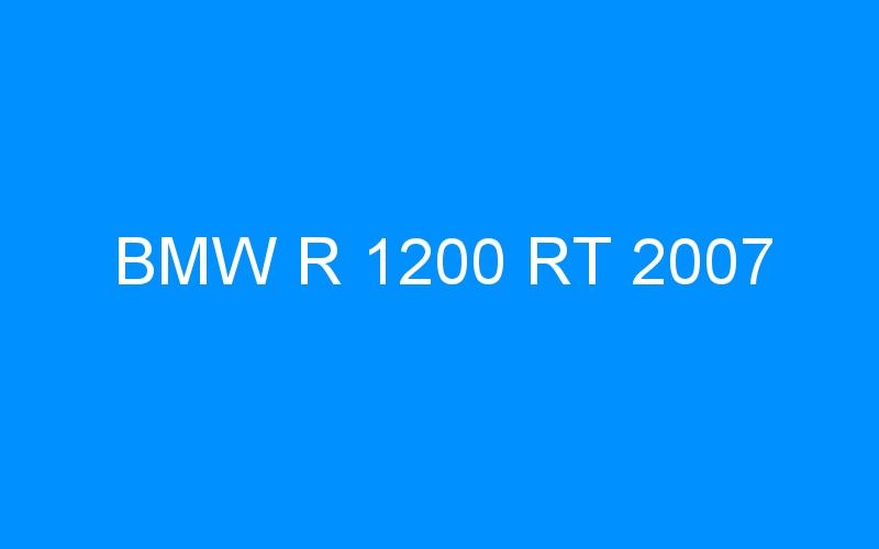 BMW R 1200 RT 2007