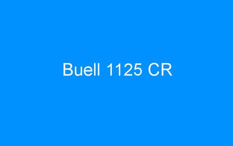 Buell 1125 CR