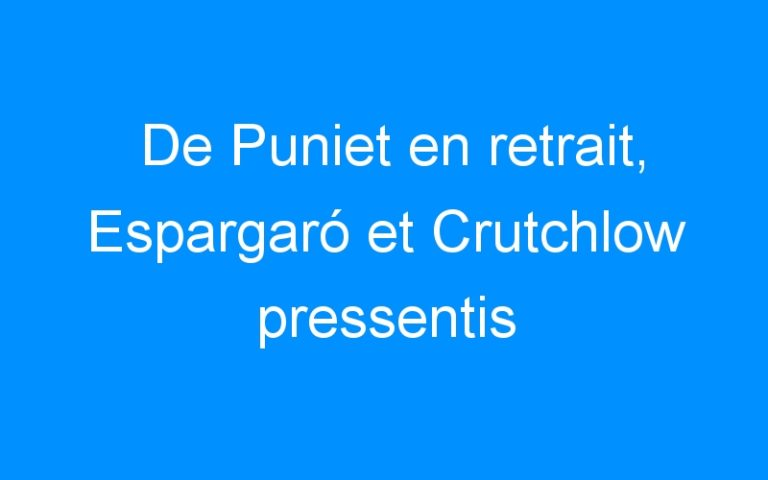 De Puniet en retrait, Espargaró et Crutchlow pressentis