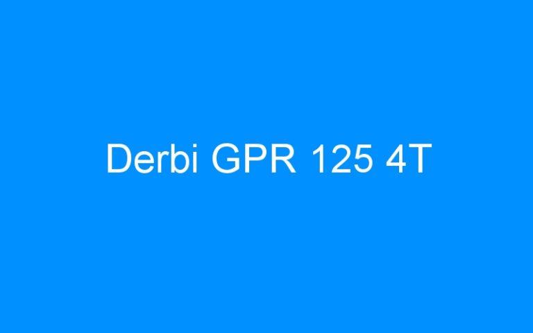 Derbi GPR 125 4T