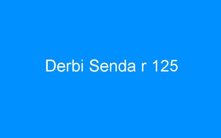 Derbi Senda r 125