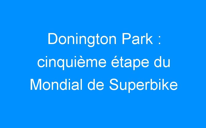 Donington Park : cinquième étape du Mondial de Superbike