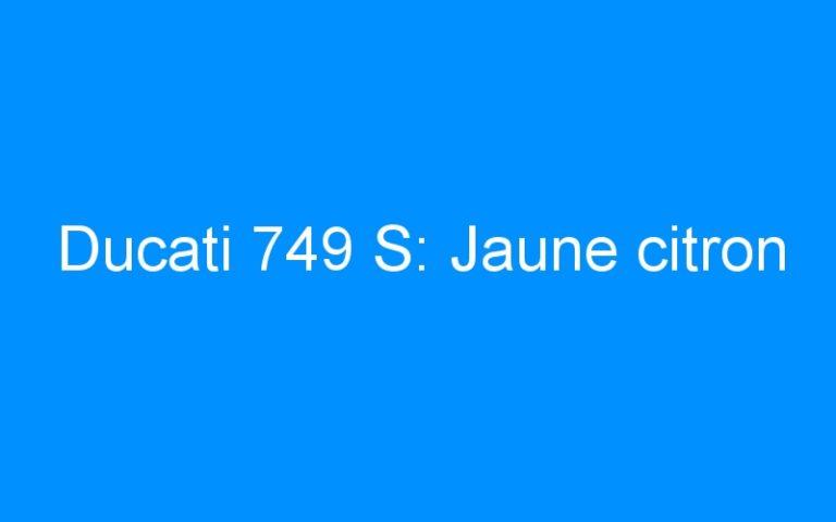 Ducati 749 S: Jaune citron