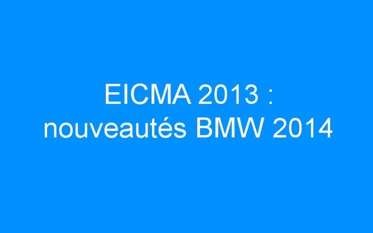 EICMA 2013 : nouveautés BMW 2014
