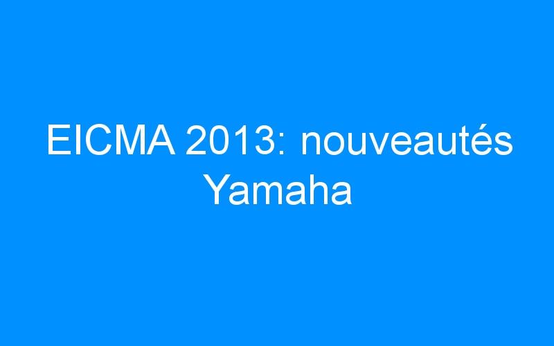 EICMA 2013: nouveautés Yamaha