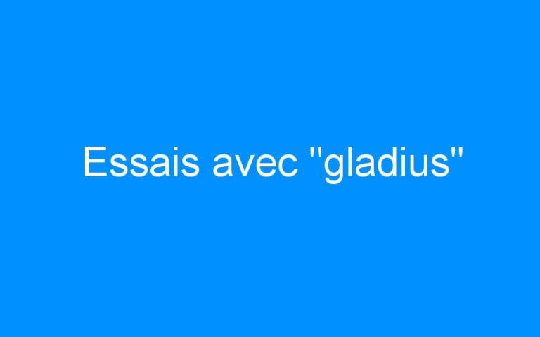 Essais avec «gladius»