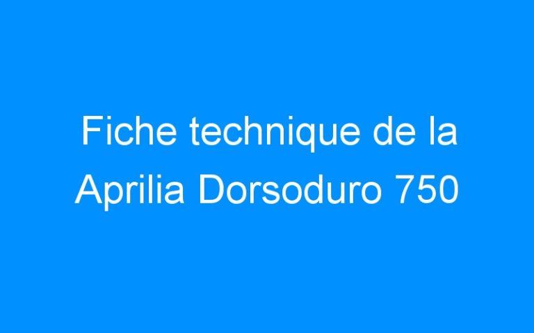 Fiche technique de la Aprilia Dorsoduro 750