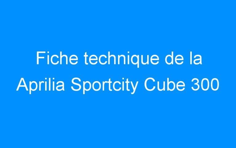 Fiche technique de la Aprilia Sportcity Cube 300