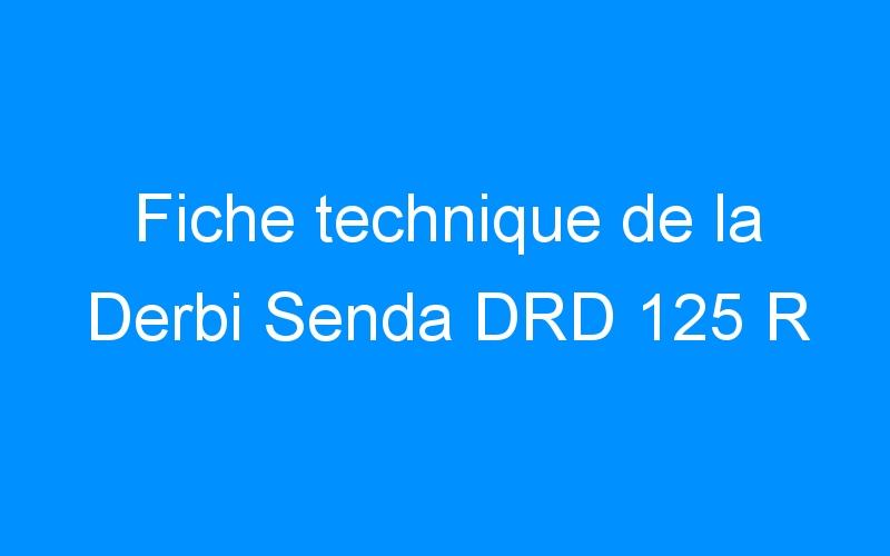 Fiche technique de la Derbi Senda DRD 125 R
