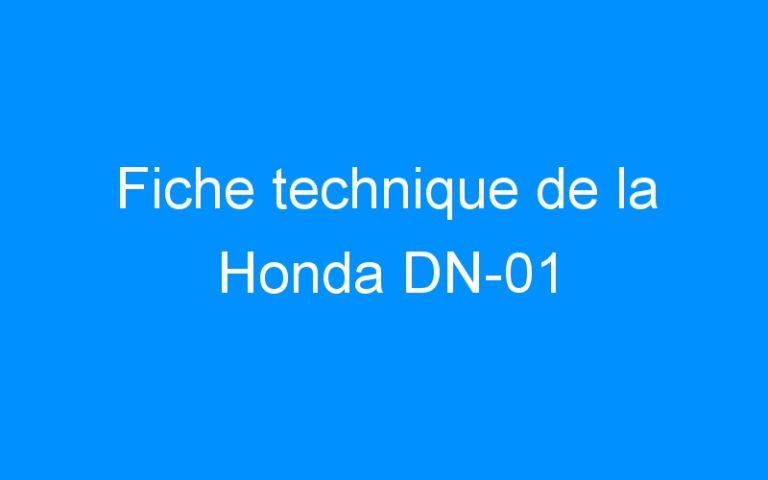 Fiche technique de la Honda DN-01