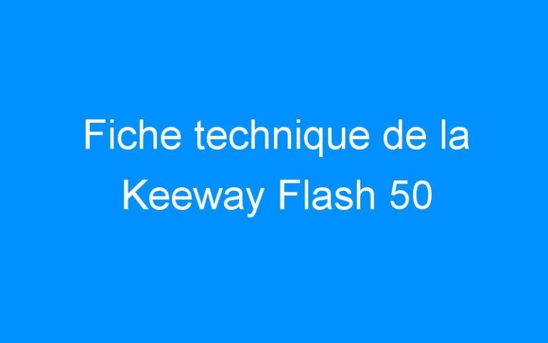 Fiche technique de la Keeway Flash 50