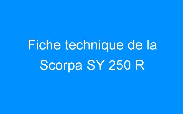 Fiche technique de la Scorpa SY 250 R