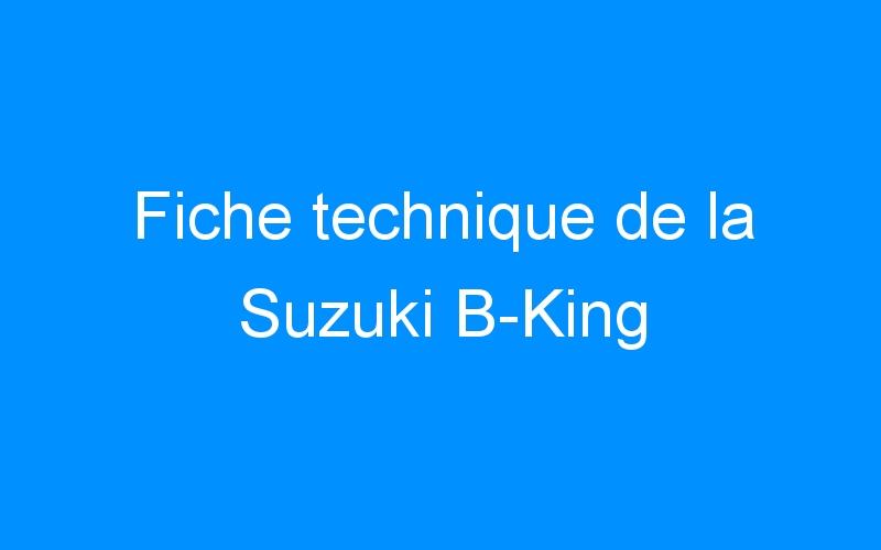 Fiche technique de la Suzuki B-King
