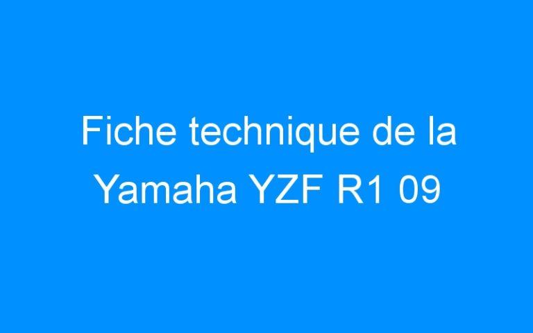 Fiche technique de la Yamaha YZF R1 09