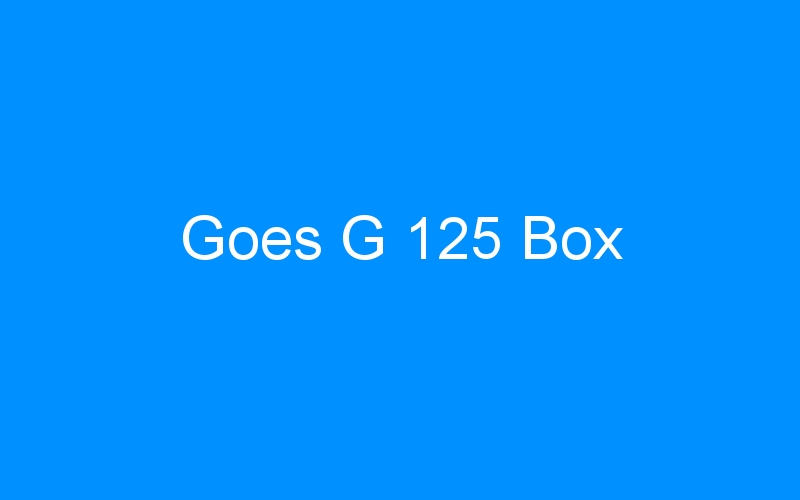Goes G 125 Box