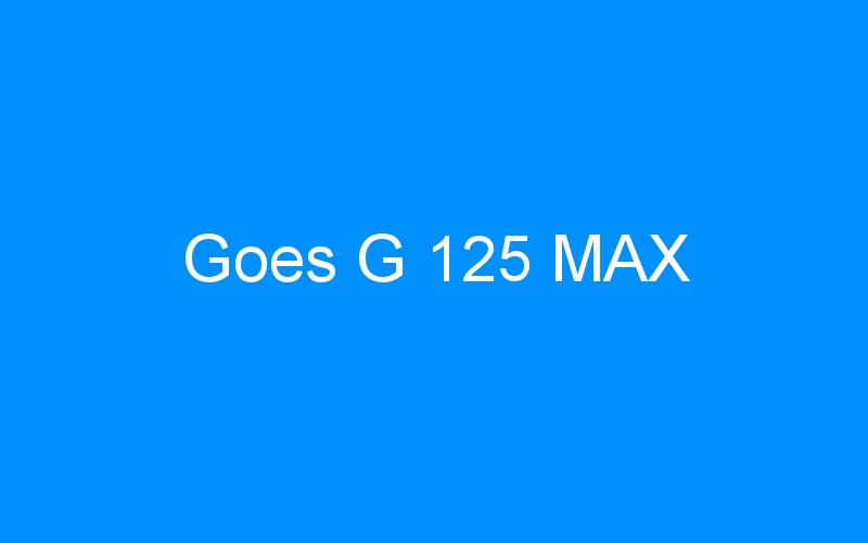Goes G 125 MAX