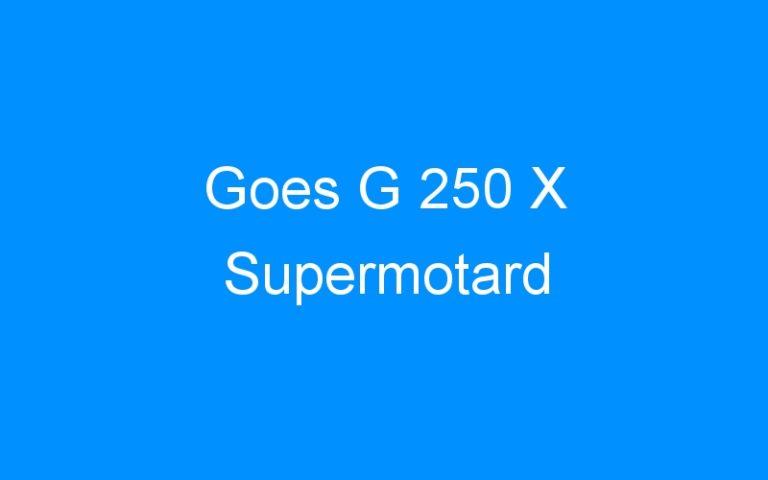 Goes G 250 X Supermotard