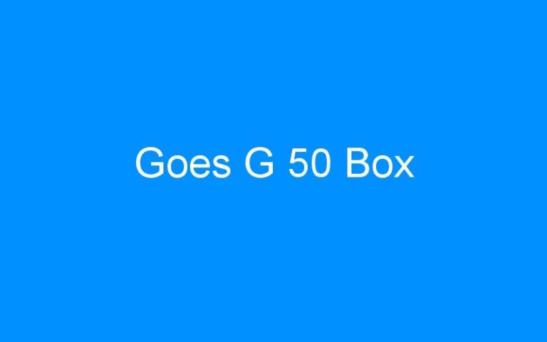 Goes G 50 Box