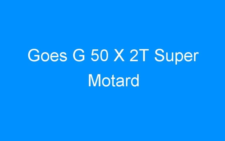 Goes G 50 X 2T Super Motard