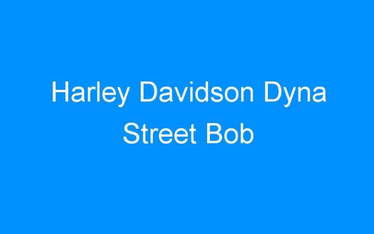 Harley Davidson Dyna Street Bob