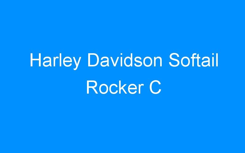 Harley Davidson Softail Rocker C