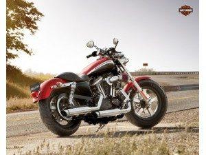 Harley-Davidson XL1200 CA : équilibre