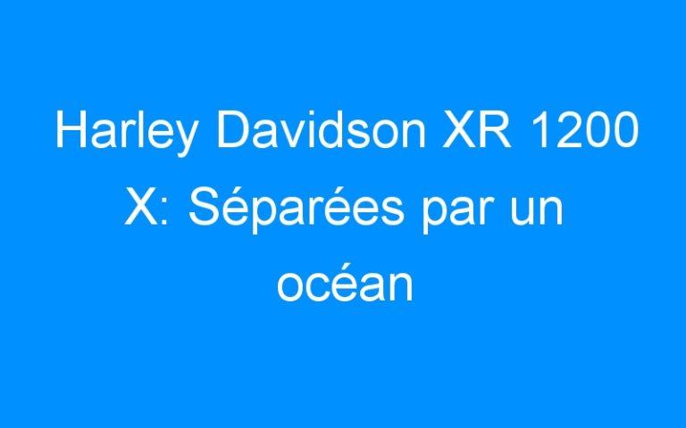 Harley Davidson XR 1200 X: Séparées par un océan
