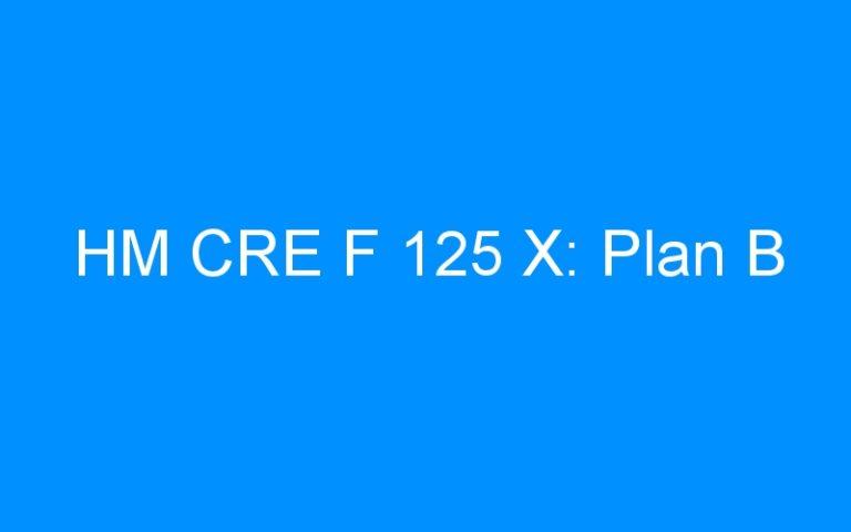 HM CRE F 125 X: Plan B