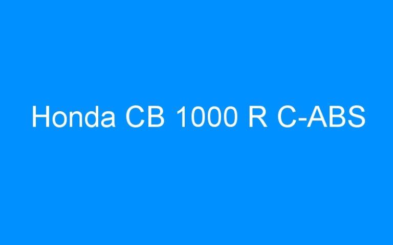 Honda CB 1000 R C-ABS