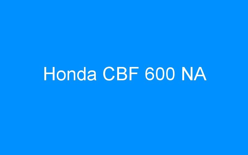 Honda CBF 600 NA